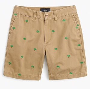 J. Crew palm tree boyfriend chino short